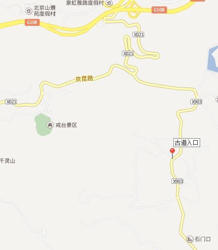 卢潭古道入口地图
