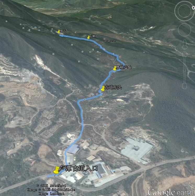 卢潭古道路线图