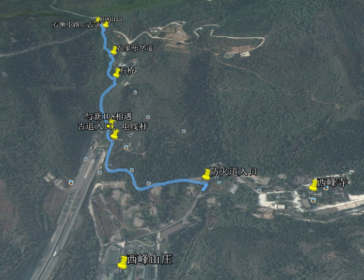 庞潭古道卫星图